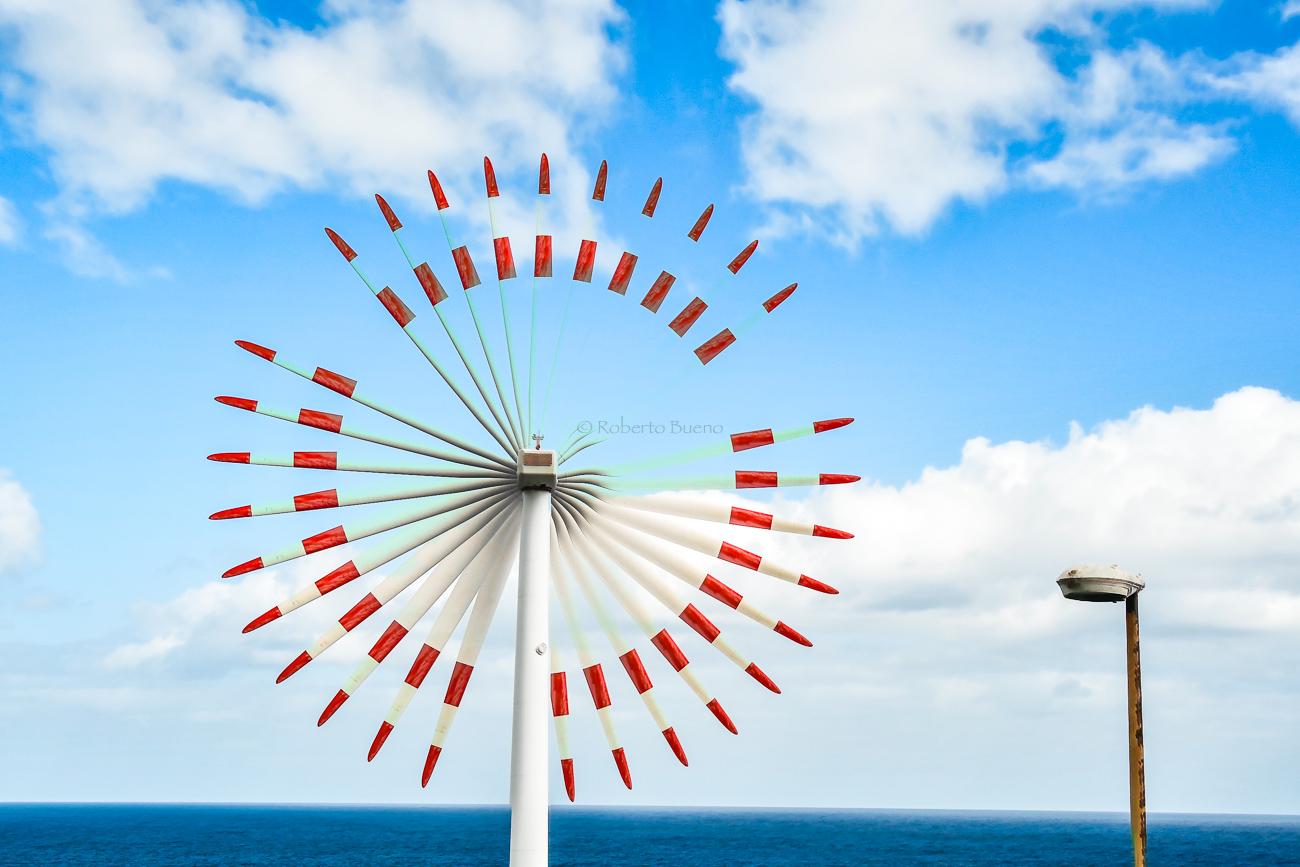 Rueda eólica. La Palma - Energía eólica - Roberto Bueno. Fotografías Energía eólica y aerogeneradores