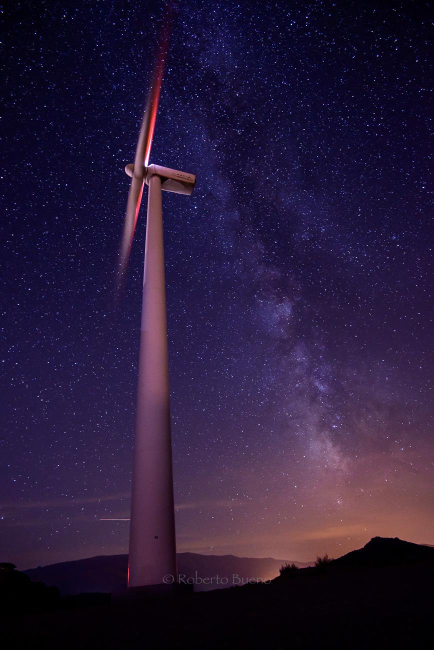 Eólica Vía Láctea - Energía eólica - Roberto Bueno. Fotografías Energía eólica y aerogeneradores