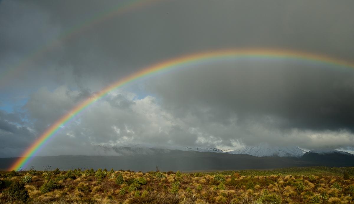 Arco iris, Parque Nacional Tongariro  - Nueva Zelanda - Nueva Zelanda, Isla Norte. Roberto Bueno; Fotografía de Naturaleza y Viajes