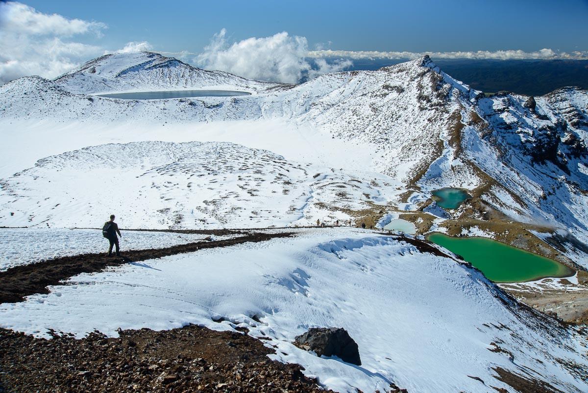 Blue Lake y Emerald Lakes, Parque Nacional Tongariro - Nueva Zelanda - Nueva Zelanda, Isla Norte. Roberto Bueno; Fotografía de Naturaleza y Viajes