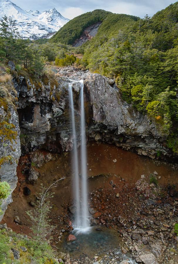 Mangawhero Falls y Monte Ruapehu - Nueva Zelanda - Nueva Zelanda, Isla Norte. Roberto Bueno; Fotografía de Naturaleza y Viajes