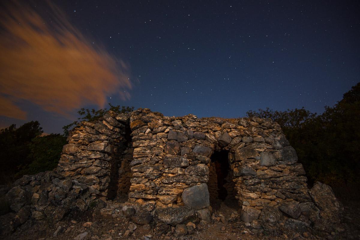 Barraca de pedra seca. Mont-roig del Camp - Luces en la noche - Luces en la Noche. Roberto Bueno. Fotografía de Naturaleza y viajes