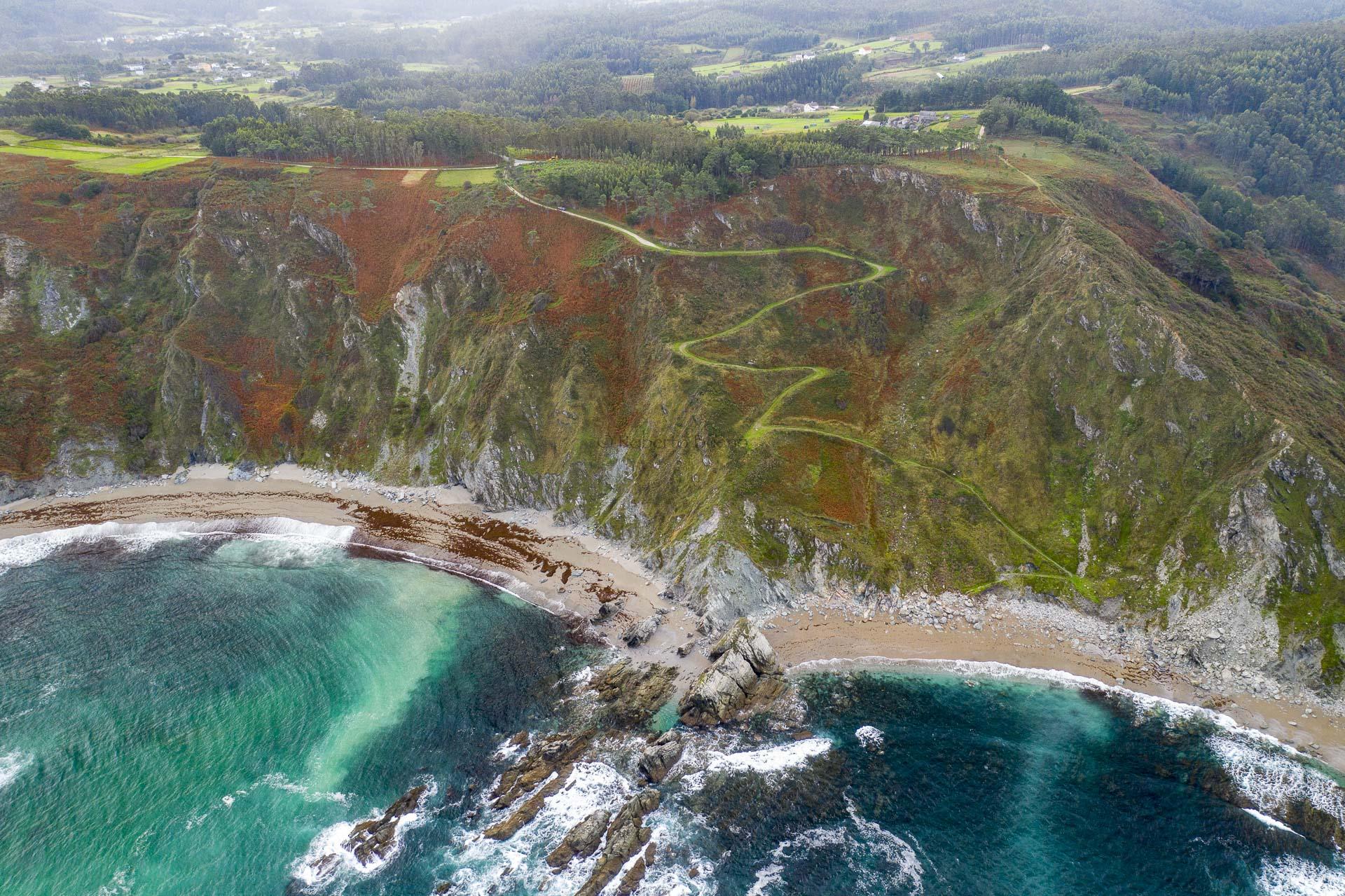 Sendero a la playa - Desde el aire 2 - Roberto Bueno - Fotografía de Naturaleza - Luces del Planeta - Desde el aire