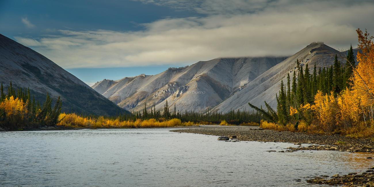 Cordillera Taiga. Valle del río Ogilvie. Dempster Higway - Yukon, NWT y Dempster - Roberto Bueno. Luces del Planeta. Fotografías. Yukon, Territorios del Noroeste y Dempster Highway