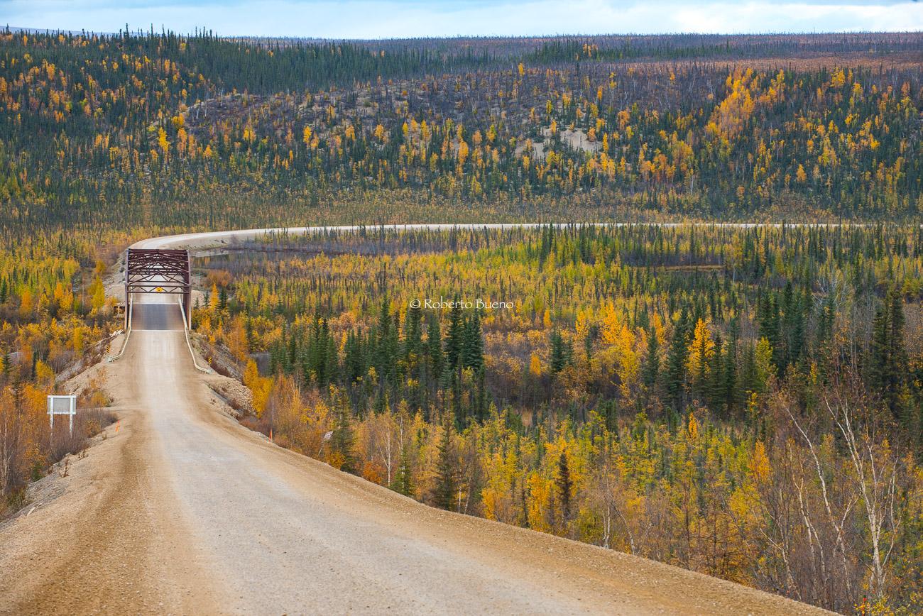 Puente sobre el río Eagle. Dempster Highway.  - Yukon, NWT y Dempster - Roberto Bueno. Luces del Planeta. Fotografías. Yukon, Territorios del Noroeste y Dempster Highway