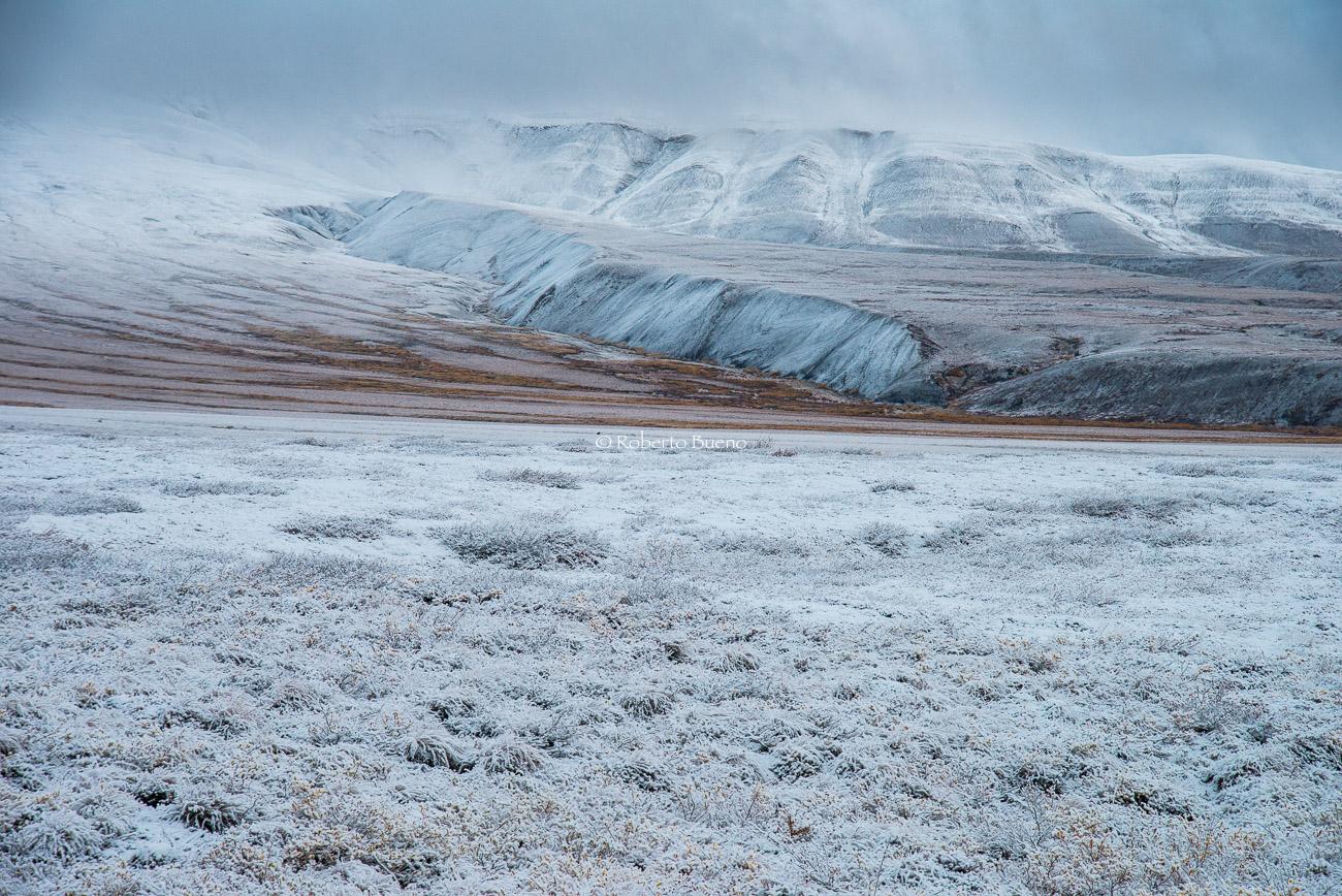 Tundra nevada y Richardson Mountains. Dempster Highway. NWT - Yukon, NWT y Dempster - Roberto Bueno. Luces del Planeta. Fotografías. Yukon, Territorios del Noroeste y Dempster Highway