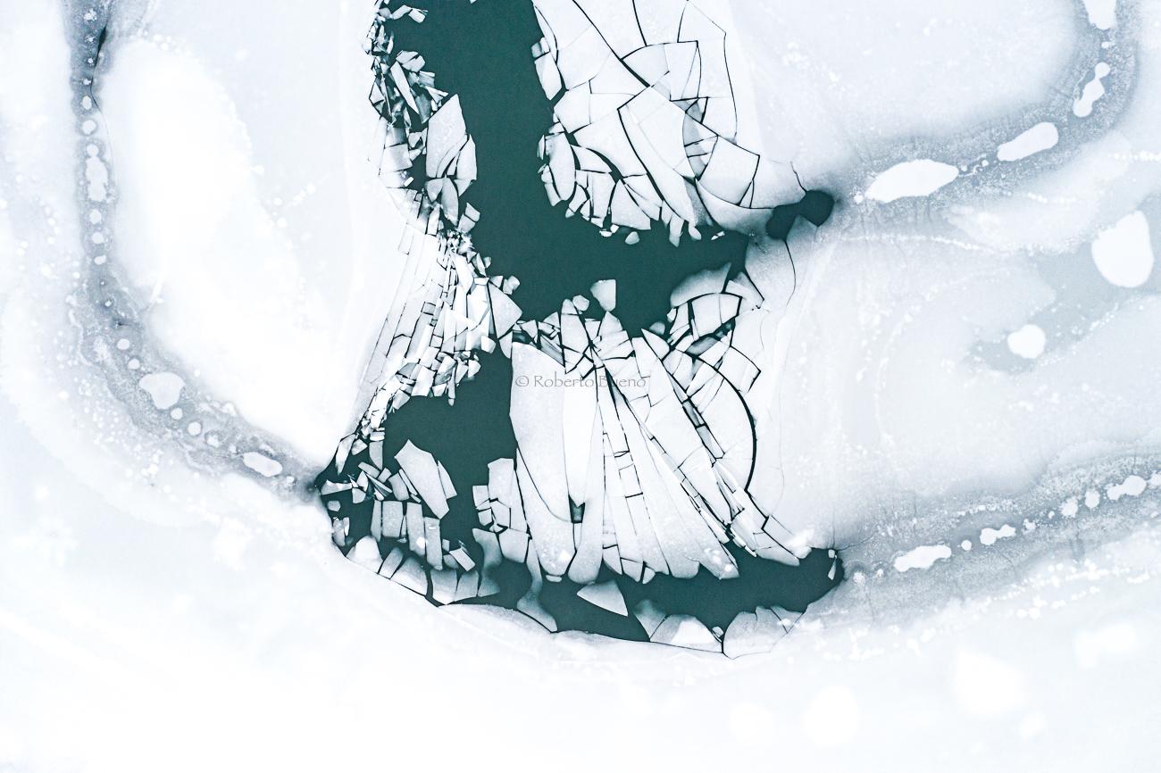 Deshielo 2 - Desde el aire 2 - Roberto Bueno - Fotografía de Naturaleza - Luces del Planeta - Desde el aire